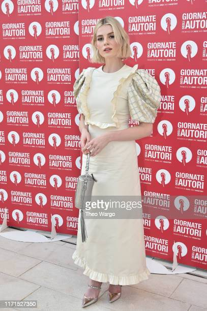 Lucy Boynton the MiuMiu photocall during the 76th Venice Film Festival at Sala Volpi on September 01 2019 in Venice Italy
