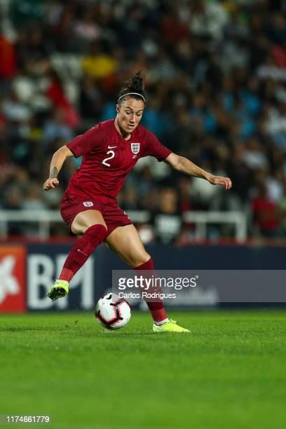 Lucy Bronze of England and Olympique Lyonnais during Portugal Women v England Women - International Friendly at Estadio do Bonfim on October 10, 2019...