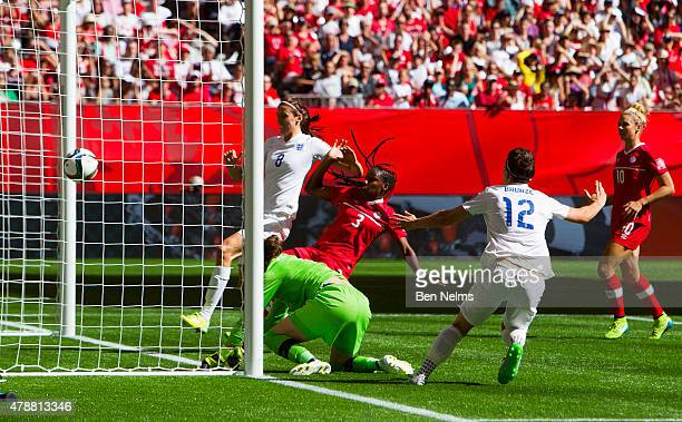 Lucy Bronze of England celebrates her goal against Canada during the FIFA Women's World Cup Canada 2015 Quarter Final match between the England and...