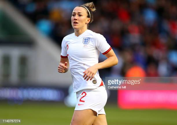 Lucy Bronze of England during the International Friendly between England Women and Canada Women at The Academy Stadium on April 05, 2019 in...