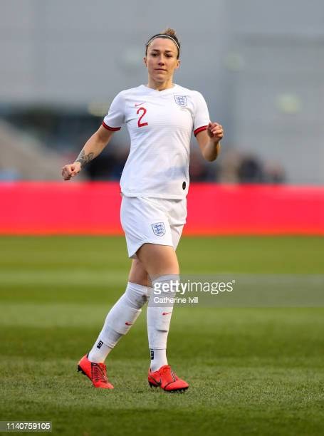 Lucy Bronze of England during the International Friendly between England Women and Canada Women at The Academy Stadium on April 05 2019 in Manchester...