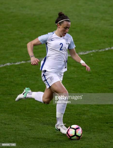 Lucy Bronze of England in action during the Women's International Friendly match between England and Austria at Stadium mk on April 10 2017 in Milton...
