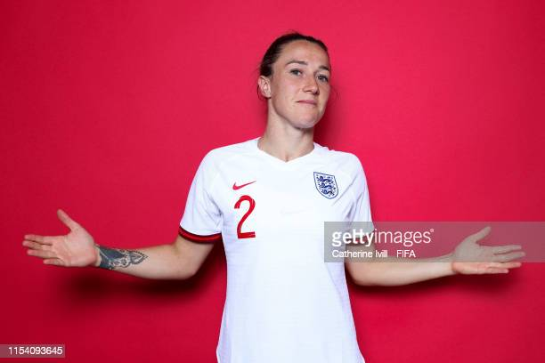 Lucy Bronze of England poses for a portrait during the official FIFA Women's World Cup 2019 portrait session at Radisson Blu Hotel Nice on June 06,...