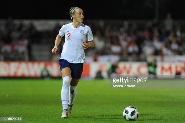 Lucy Bronze of England Women during the FIFA Women's World Cup Qualifier match between Wales and England at Rodney Parade on August 31 2018 in...