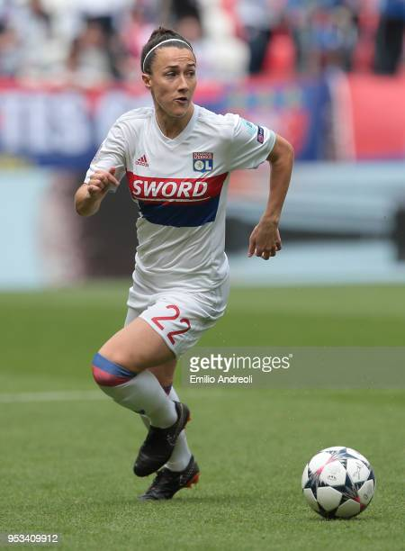 Lucy Bronze of Olympique Lyonnais in action during the UEFA Women's Champions League Semi Final Second Leg match between Olympique Lyonnais and...