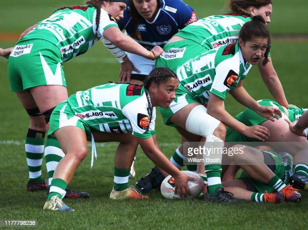 Lucy Brown of Manawatu during the round 5 Farah Palmer Cup match between Manawatu and Auckland at Central Energy Trust Arena on September 29, 2019 in...