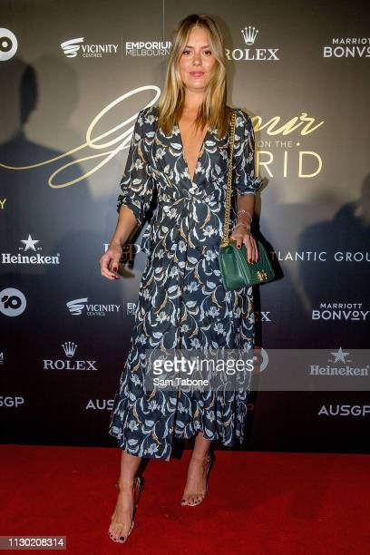 Lucy Brownless attends the Glamour on the Grid party at Albert Park on March 13 2019 in Melbourne Australia