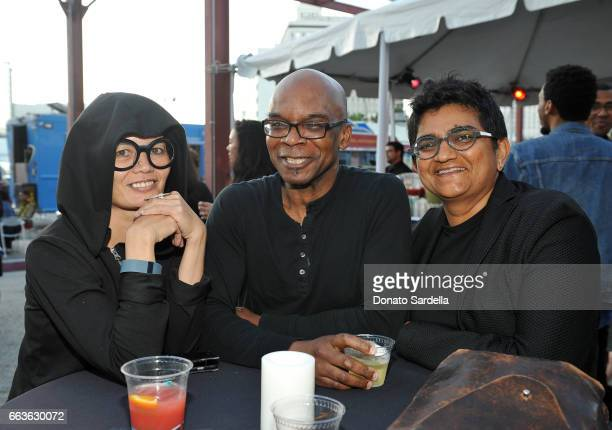 Lucy Byrnes Darryl Moore and Anjali Arondekar attend MOCA's Leadership Circle and Members' Opening of 'Carl Andre Sculpture as Place 19582010' and...