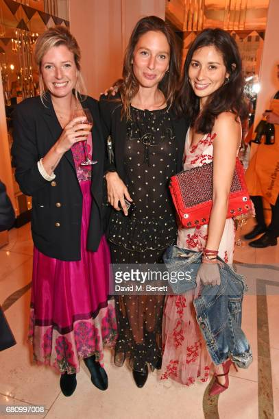 Lucy Carr Ellison Jemima Jones and Jasmine Hemsley attend the Veuve Clicquot Business Woman Awards at Claridge's Hotel on May 9 2017 in London England
