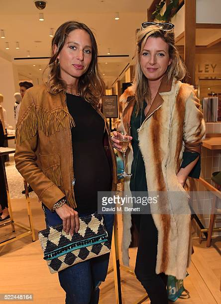Lucy CarrEllison and Jemima Jones attend the launch of the Hemsley Hemsley Cafe at Selfridges in the body studio on April 19 2016 in London England