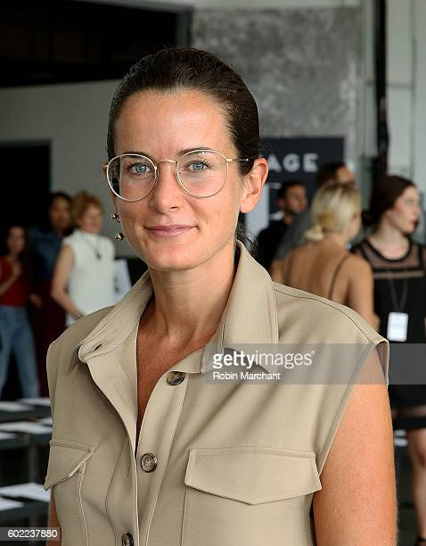 Lucy Chadwick attends Dion Lee Front Row September 2016 during New York Fashion Week at Pier 59 Studios on September 10 2016 in New York City