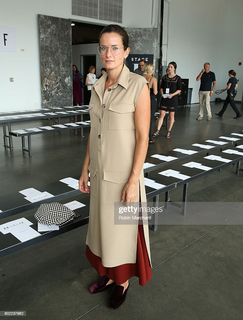 Lucy Chadwick attends Dion Lee Front Row September 2016 during New York Fashion Week at Pier 59 Studios on September 10, 2016 in New York City.