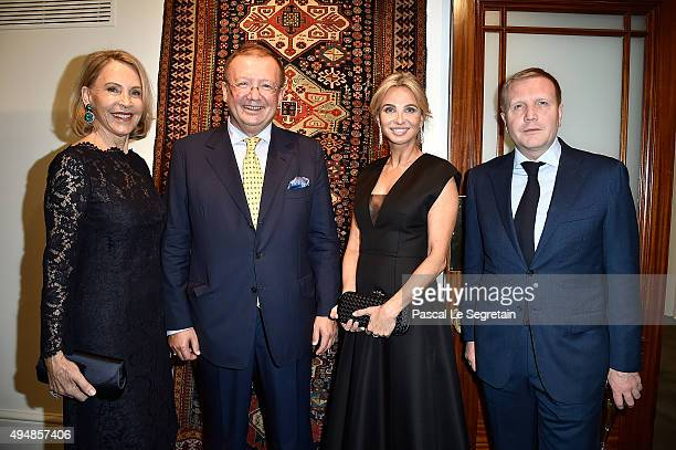 Lucy Churchill, Russian ambassador for UK Alexander Yakovenko, Corinna Sayn-Wittgenstein and Dmitry Shumkov attend the Prince Albert II of Monaco...