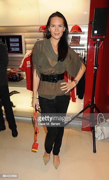 Lucy Clarkson attends the launch of the first British Ferrari store in Regent Street on May 6 2009 in London England