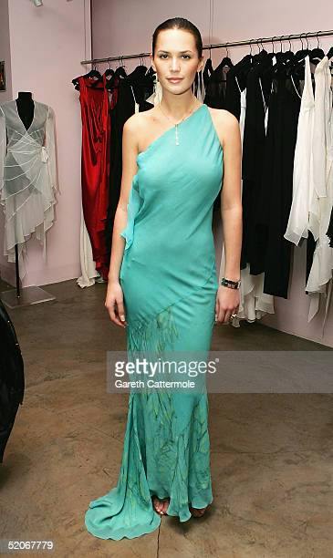 Lucy Clarkson attends the Maria Grachvogel Spring/Summer 2005 Preview Reception showcasing the British fashion designer's latest collection at her...