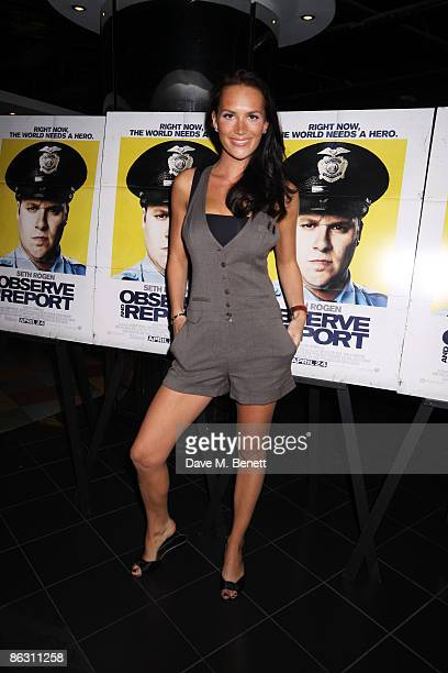 Lucy Clarkson attends the VIP screening of 'Observe and Report' at The Vue on April 22 2009 in London England