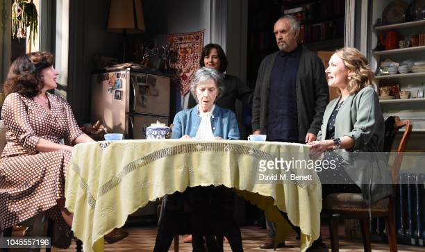 Lucy Cohu Amanda Drew Eileen Atkins Jonathan Pryce and Anna Madeley poses at a photocall for 'The Height Of The Storm' at Wyndhams Theatre on October...