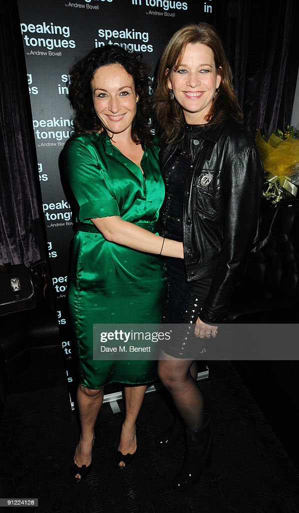 Lucy Cohu and Kerry Fox attend the afterparty following the press night of 'Speaking In Tongues', at the Jewell Bar on September 28, 2009 in London, England.