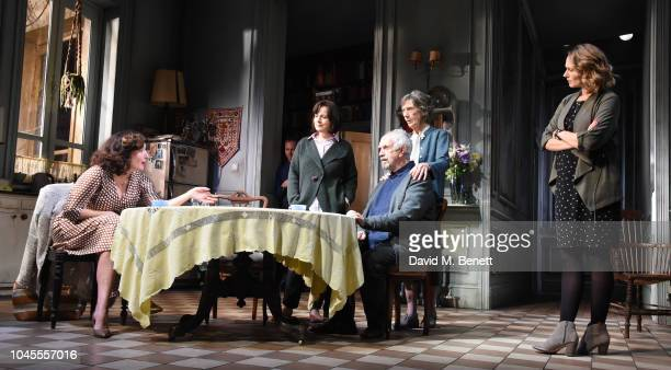 Lucy Cohu James Hillier Amanda Drew Jonathan Pryce Eileen Atkins and Anna Madeley pose at a photocall for 'The Height Of The Storm' at Wyndhams...