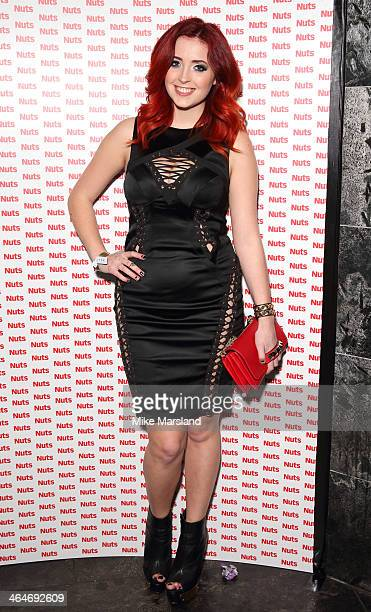 Lucy Collett attends Nuts 10th Birthday Party at Aura on January 23 2014 in London England