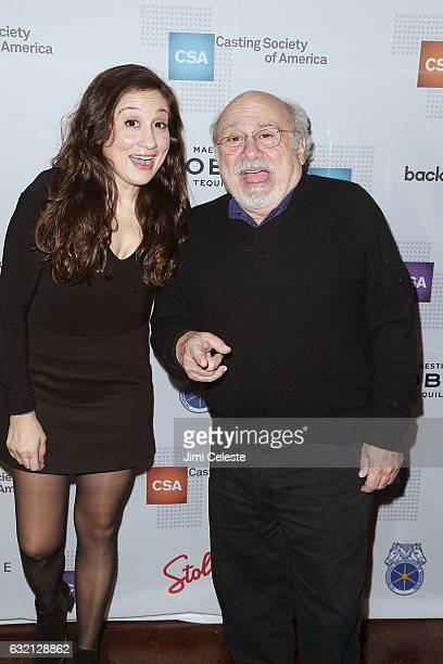 Lucy DeVito and actor Danny DeVito attend the 32nd Annual Artios Awards at Stage 48 on January 19 2017 in New York City
