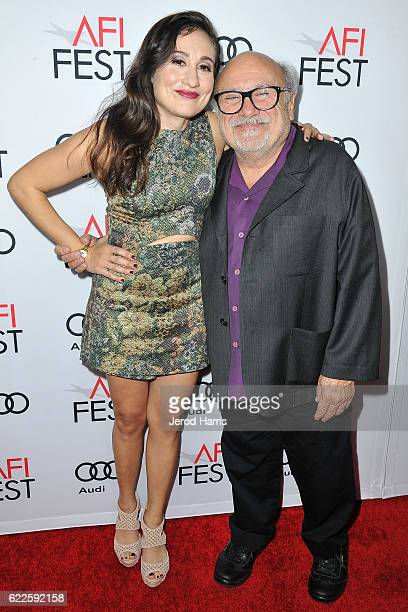 Lucy DeVito and Danny DeVito arrives at Premiere of Sony Pictures Classics' 'The Comedian' at the Egyptian Theatre on November 11 2016 in Hollywood...