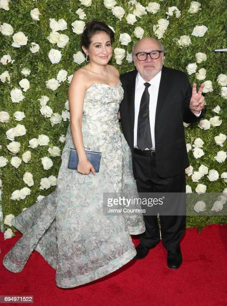 Lucy DeVito and Danny DeVito attend the 2017 Tony Awards at Radio City Music Hall on June 11 2017 in New York City