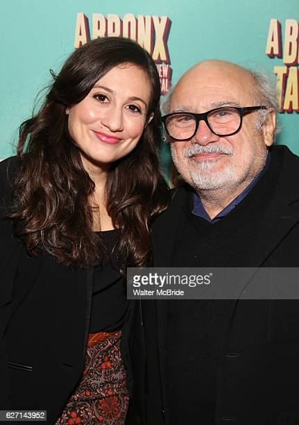 Lucy DeVito and Danny DeVito attend the Broadway Opening Night Perfomance of 'A Bronx Tale' at The Longacre on December 1 2016 in New York City