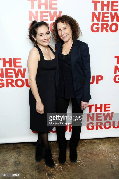 Lucy DeVito and Rhea Perlman attend The New Group 2018 Gala at Tribeca Rooftop on March 12 2018 in New York City