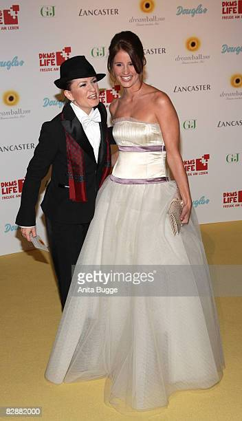 Lucy Diakovska and Mareile Hoeppner attend the Dreamball2008 charity gala in the Martin-Gropius Building on September 18, 2008 in Berlin, Germany.