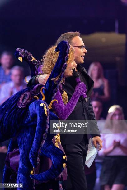 Lucy Diakovska and Matthias Opdenhoevel during the first liveshow of The Masked Singer at Coloneum on June 27 2019 in Cologne Germany