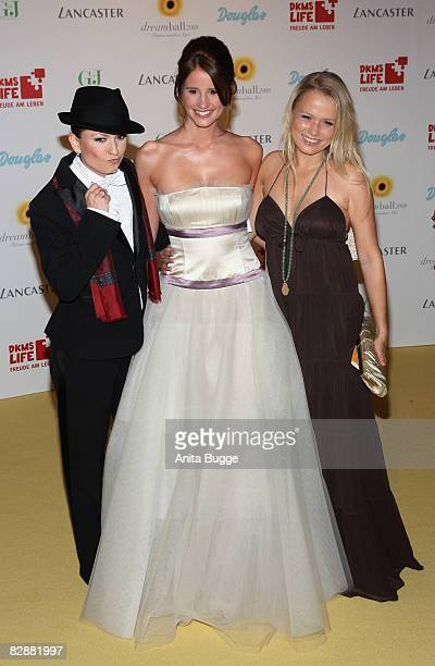 Lucy Diakovska, Mareile Hoeppner and Nova Meierhenrich attend the Dreamball2008 charity gala in the Martin-Gropius Building on September 18, 2008 in...