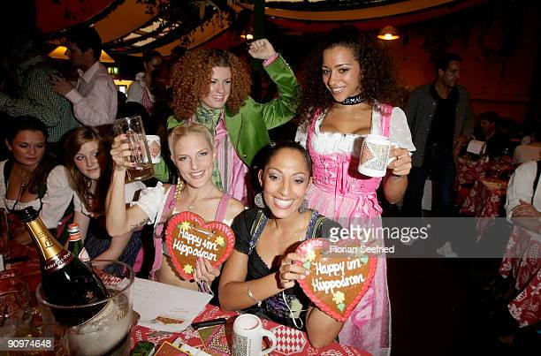 Lucy Diakowska Jessica Wahls Nadja Benaissa and Sandy Moelling of the band No Angels attend the Oktoberfest 2009 opening at Hippodrom at the...