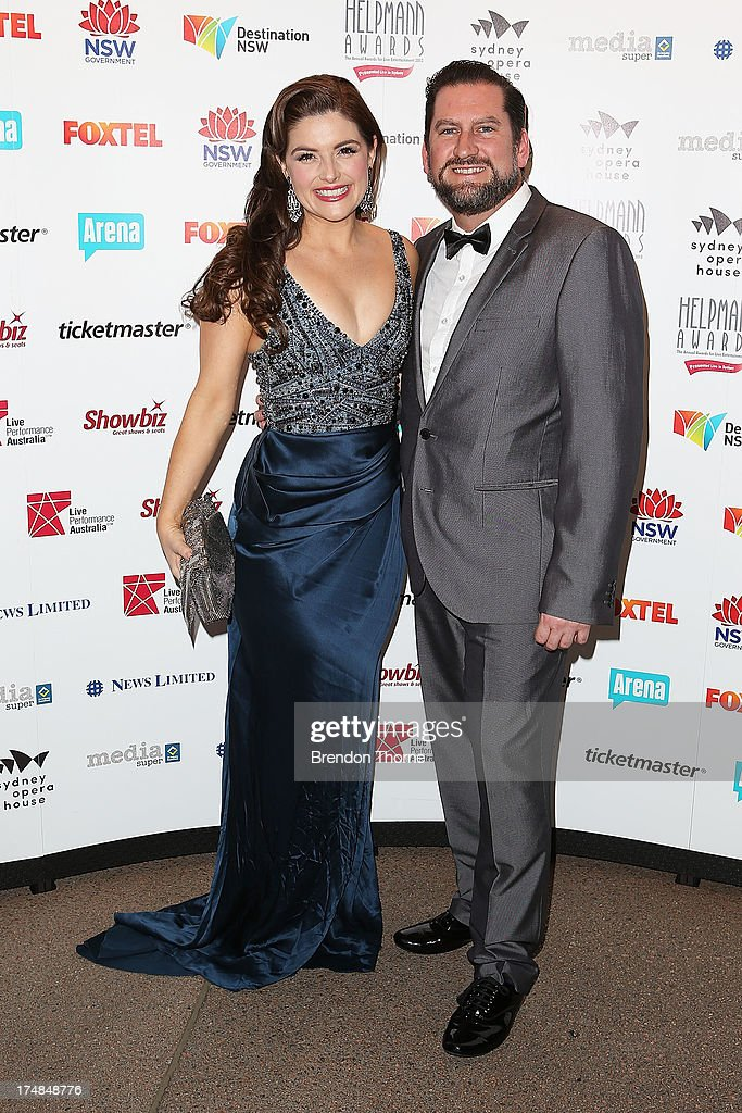Lucy Durack and Chris Horsey arrives at the 2013 Helpmann Awards at the Sydney Opera House on July 29, 2013 in Sydney, Australia.