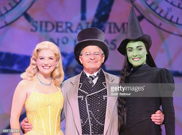 Lucy Durack as Glinda Reg Livermore as the Wizard and Jemma Rix as Elphaba pose during a WICKED production media call at the Regent Theatre on May 8...