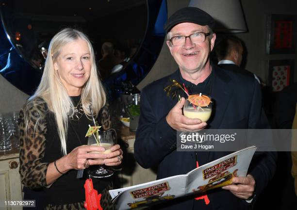 Lucy Enfield and Harry Enfield attend the after show party following the opening night of Only Fools and Horses The Musical at Theatre Royal...