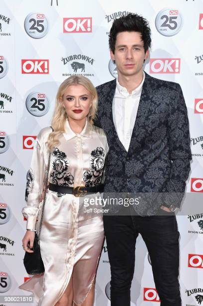 Lucy Fallon and Tom Leech attend OK Magazine's 25th Anniversary Party at The View from The Shard on March 21 2018 in London England