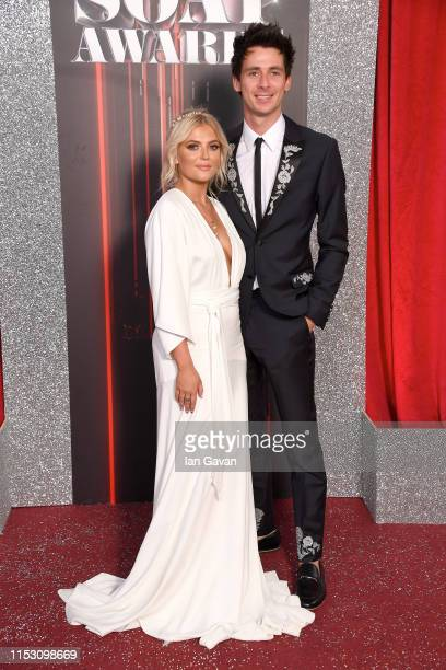 Lucy Fallon and Tom Leech attend the British Soap Awards at The Lowry Theatre on June 01 2019 in Manchester England