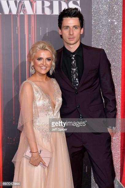 Lucy Fallon and Tom Leech attend The British Soap Awards at The Lowry Theatre on June 3 2017 in Manchester England The Soap Awards will be aired on...