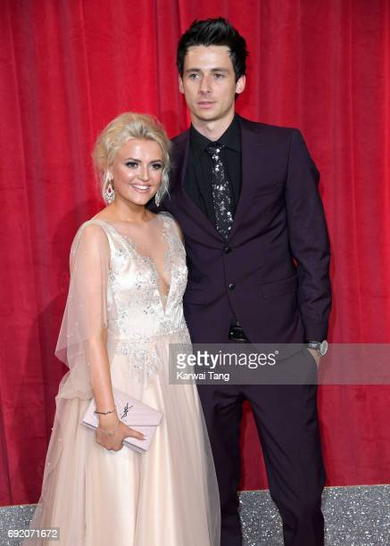 Lucy Fallon and Tom Leech attend the British Soap Awards at The Lowry Theatre on June 3 2017 in Manchester England