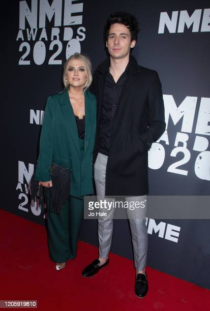 Lucy Fallon and Tom Leech attend the NME Awards 2020 at O2 Academy Brixton on February 12 2020 in London England