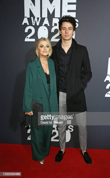 Lucy Fallon and Tom Leech attend The NME Awards 2020 at the O2 Academy Brixton on February 12 2020 in London England
