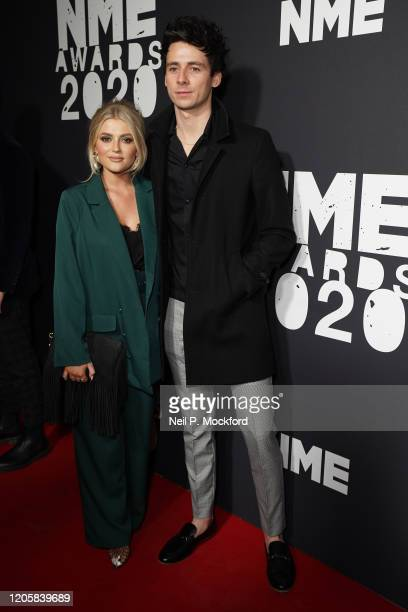 Lucy Fallon and Tom Leech attends the NME Awards 2020 at O2 Academy Brixton on February 12 2020 in London England