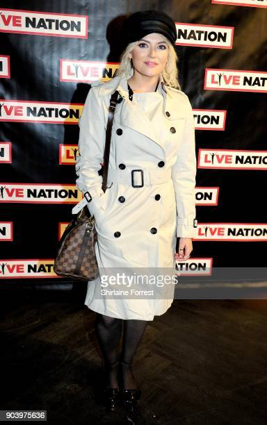 Lucy Fallon attends Chris Rock's celebrity gala on the opening night of his UK tour at Manchester Arena on January 11 2018 in Manchester England