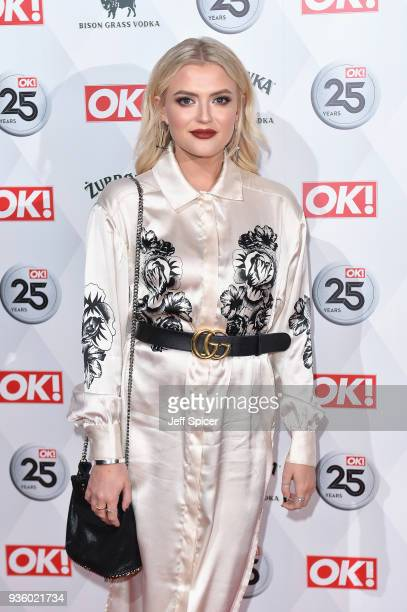 Lucy Fallon attends OK Magazine's 25th Anniversary Party at The View from The Shard on March 21 2018 in London England