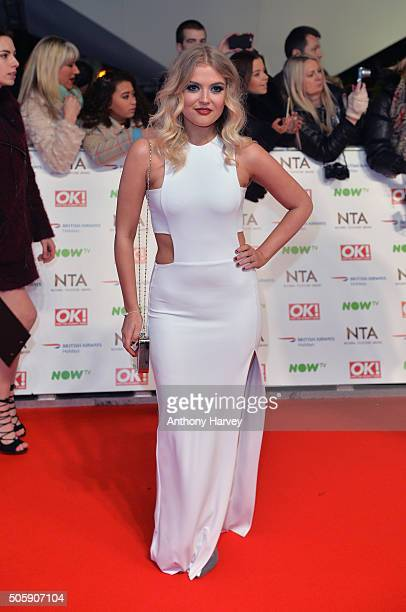 Lucy Fallon attends the 21st National Television Awards at The O2 Arena on January 20 2016 in London England