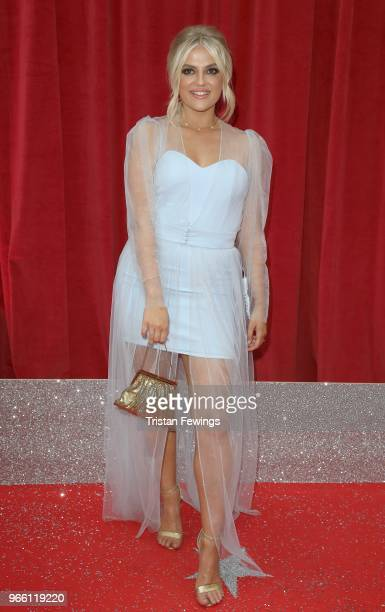 Lucy Fallon attends the British Soap Awards 2018 at Hackney Empire on June 2 2018 in London England