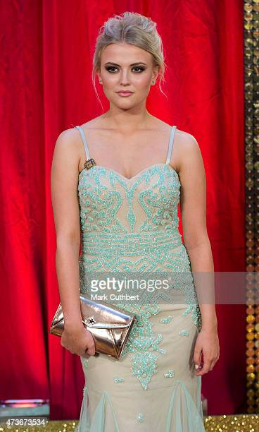 Lucy Fallon attends the British Soap Awards at Manchester Palace Theatre on May 16 2015 in Manchester England