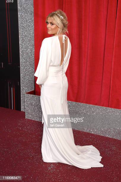 Lucy Fallon attends the British Soap Awards at The Lowry Theatre on June 01 2019 in Manchester England