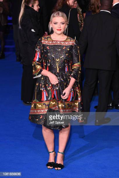 Lucy Fallon attends the European Premiere of 'Mary Poppins Returns' at Royal Albert Hall on December 12 2018 in London England